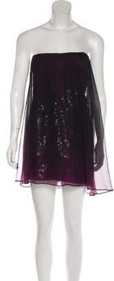 Akris Strapless Mini Dress