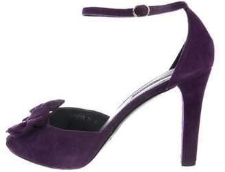 Ralph Lauren Bow Suede Sandals