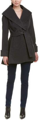Trina Turk Trina Trina By Ali Wool-Blend Wrap Coat