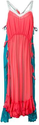 Marco De Vincenzo scalloped hem long shift dress