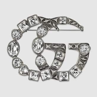 Gucci (グッチ) - クリスタル ダブルG ブローチ