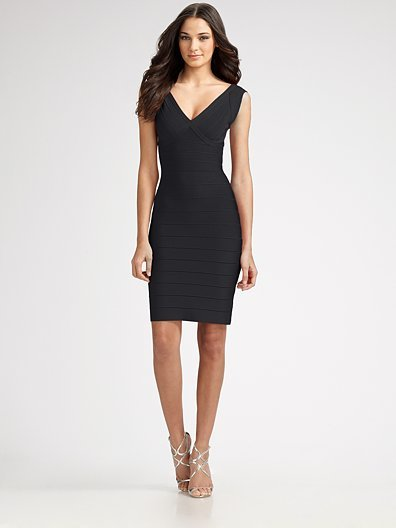 Herve Leger Diane Cap Sleeve Bandage Dress