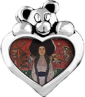 Bloch GiftJewelryShop Portrait Of Adele Bauer Purple Amethyst Crystal February Birthstone I Love You Heart Care Bear Charm