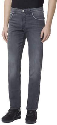 Stefano Ricci Men's Embroidered Patch Denim Jeans