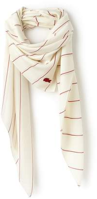 Lacoste Women's Striped Square Voile Scarf