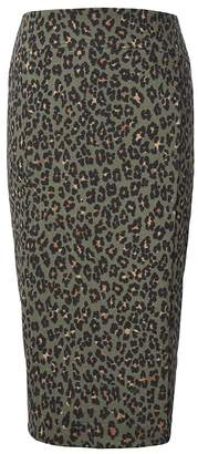 Banana Republic Petite Animal Print Knit Pencil Skirt
