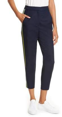 Karen Millen High Waist Side Stripe Capri Trousers