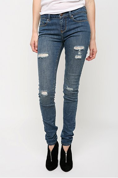 BDG Vintage Distressed Crackle Cigarette Jean