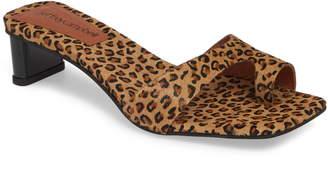 Jeffrey Campbell Teclado Genuine Calf Hair Slide Sandal