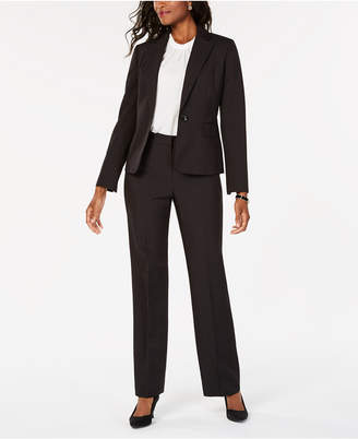 Le Suit One-Button Pinstripe Pantsuit