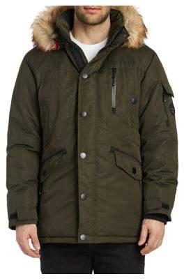 Noize Jacob Mid-Length Faux Fur Bomber Jacket