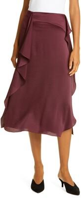 Kate Spade Satin Ruffle Skirt