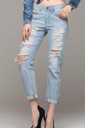 Machine Jeans Distressed Boyfriend Jeans