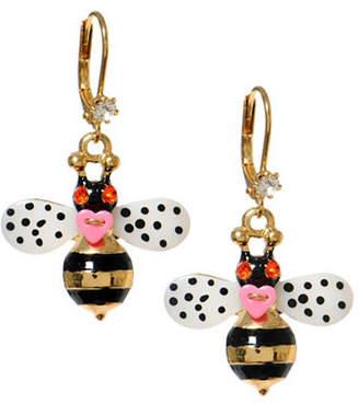 Betsey Johnson Bumble Bee Drop Earring