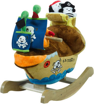 Rockabye Ahoy Doggie Pirate Ship Wooden Rocker