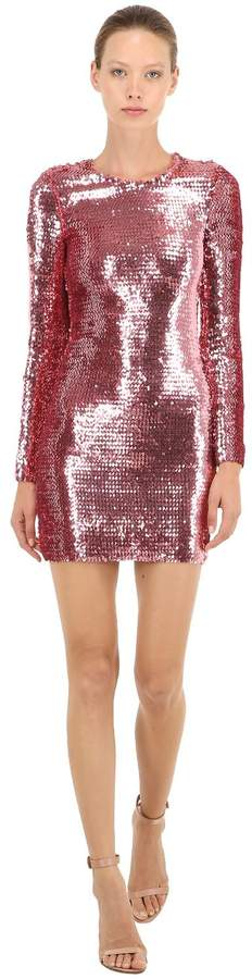 Sequined Stretch Mini Dress