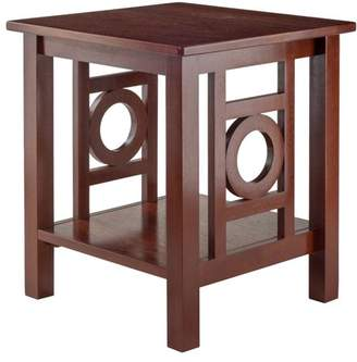 Winsome Wood Ollie Accent End Table, Walnut Finish