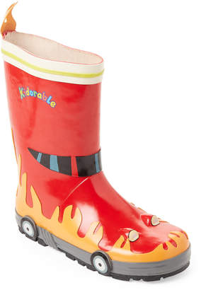 Kidorable Toddler/Kids Boys) Red Fireman Rain Boots