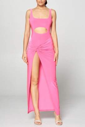 Win Win Pink Cut-Out Dress