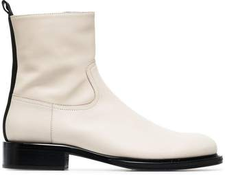 Ann Demeulemeester side zip fastening leather ankle boots