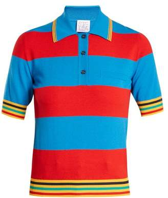 Stella Jean Striped Knit Polo Shirt - Womens - Red Multi