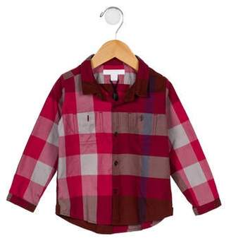 Burberry Girls' Exploded Check Top