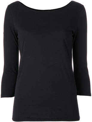 Majestic Filatures three-quarter sleeve top