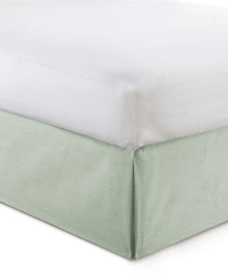 "Cambric Seafoam Bedskirt 15"" Drop Full Bedding"