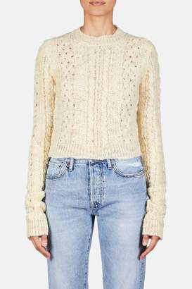 Acne Studios Cropped Pullover Sweater - Off White