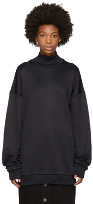 Marques Almeida Black French Terry Turtleneck
