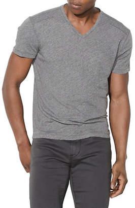 John Varvatos Heathered Pick Stitch V-Neck T-Shirt