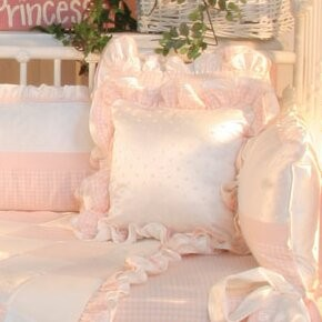 Brandee Danielle Princess Pink Decorator Cotton Throw Pillow