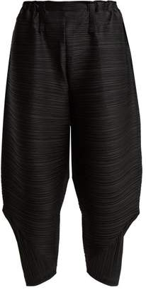 Pleats Please Issey Miyake Bounce Pleated Trousers - Womens - Black