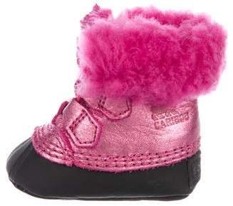 Sorel Girls' Metallic Fleece-Trimmed Boots