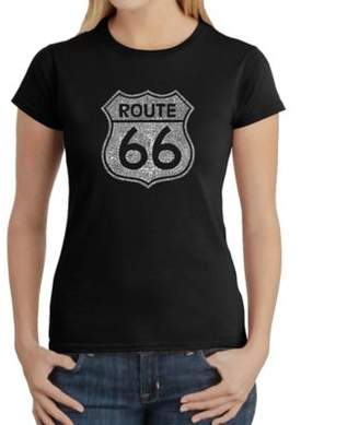 Women's Large Word Art Route 66 T-Shirt in Black $19.99 thestylecure.com