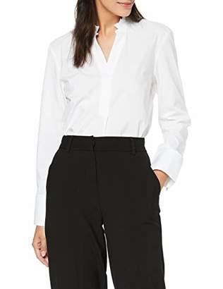 fd004270 Gant Women's D1. Tp Frill Shirt Long Sleeve Top, (White 1),