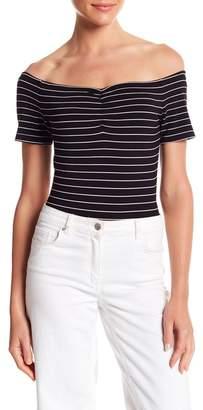 KENDALL + KYLIE Kendall & Kylie Short Sleeve Stripe Bodysuit