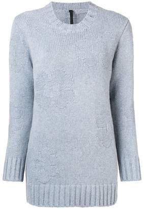 Sara Lanzi flower intarsia knit jumper