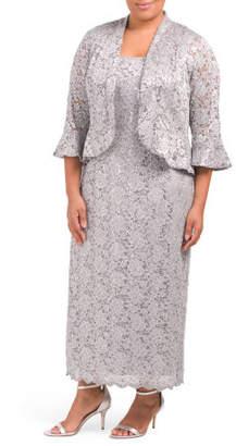 Plus Lace Jacket Dress