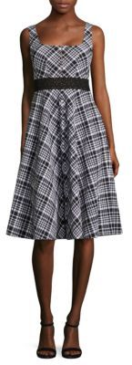 Nanette Lepore Plaid Printed Vineyard Dress $448 thestylecure.com