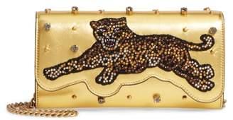 Gucci Broadway Metallic Leather Shoulder Bag