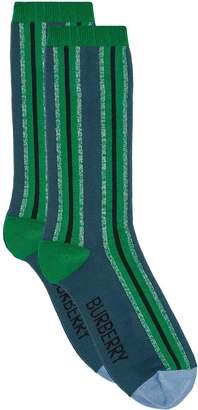 Burberry Metallic Striped Socks