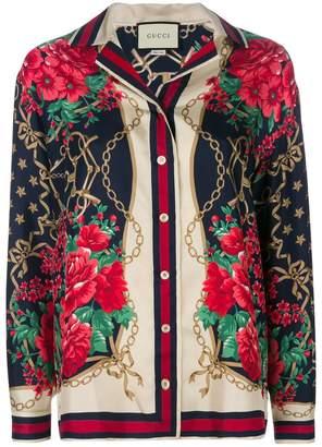 Gucci floral chain print shirt