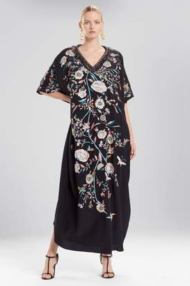 Josie Natori Couture Whimsical Butterfly Caftan