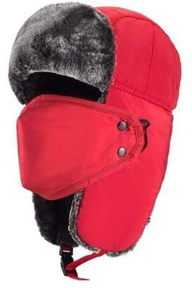 JOVIVI Unisex Winter Trooper Hat Hunting Hat Ushanka Ear Flap Chin Strap and Windproof Mask (Khaki)