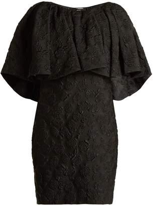 Calvin Klein Floral-jacquard silk dress