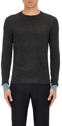 Lanvin Men's Merino Wool Piqué-Knit Sweater