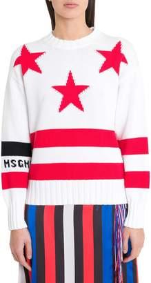 MSGM Stars And Stripes Jacquard Sweater