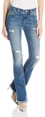 Miss Me Women's Mid Rise Boot Cut with Front Distressing