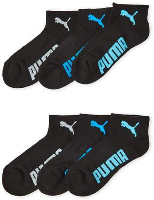 Puma 6-Pack Logo Cushioned Ankle Socks